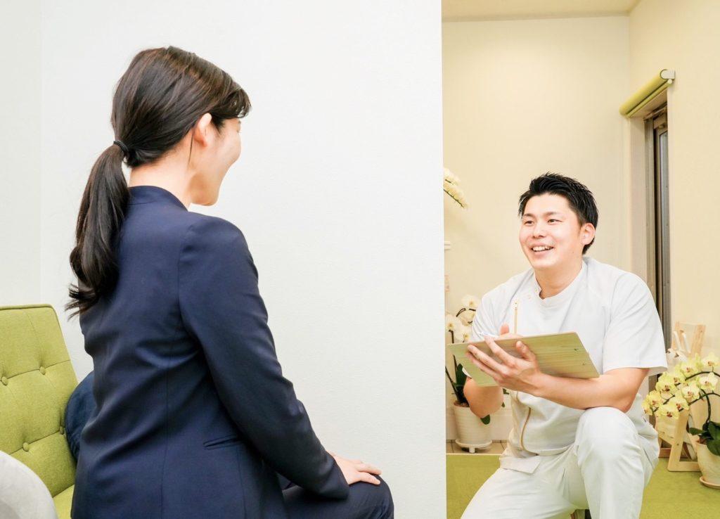 浜松のはり治療前の問診画像
